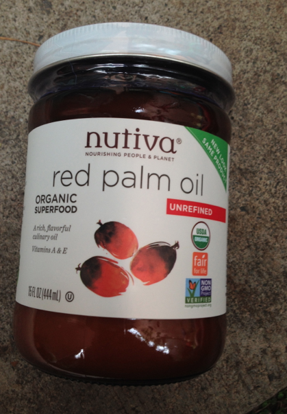 Organic and Fair-Trade Epo Pupa Red Palm Oil